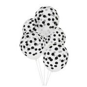 Polkadot black ballon (5st)