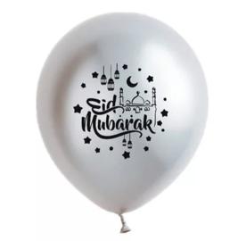 Ballonnen Eid partyzz mix zilver (5st)
