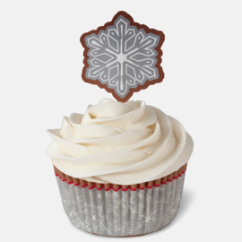 Kerst cupcake cases+toppers (24st)