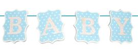 Baby slinger hout blauw