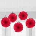 Mini hanging fans red