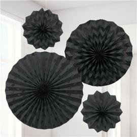 Fanset glitter zwart (4-delig)
