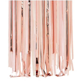 DIY backdrop linten pink mix