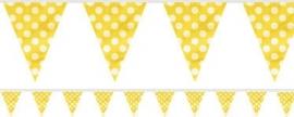 Vlaggenlijn gele polkadots