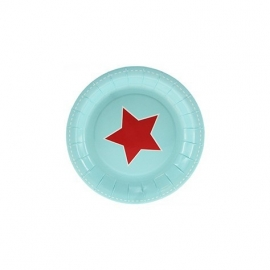 Paper plates red star (12pcs)