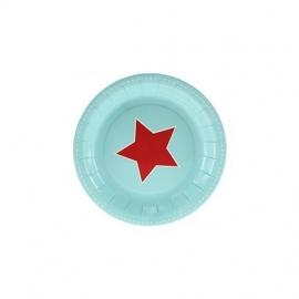 Papieren bordjes blue star (12st)