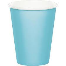 Paper cups blue (6pcs)