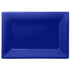 Serving platter set royal blue (3pcs)