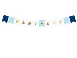 Paper bunting baby boy