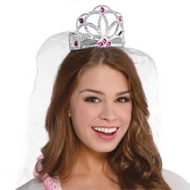 Bride to be tiara met tule sleepje
