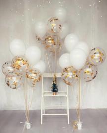 Confetti ballonnen gevuld met helium (pst vanaf)