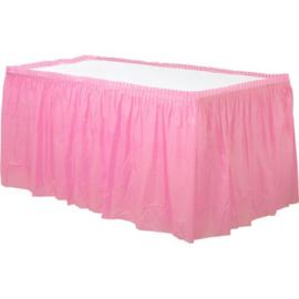 Plastic tafelrok roze