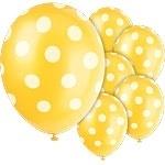 Ballonnen gele polkadots (6st)
