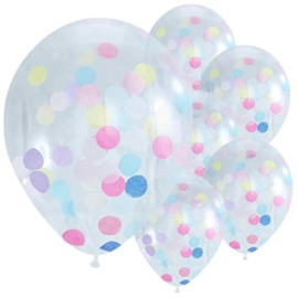 Confettiballon colorful XL confetti  (5st)