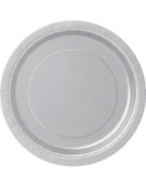 Paper plates silver large (16pcs)