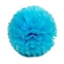 Pompom babyblauw 25cm