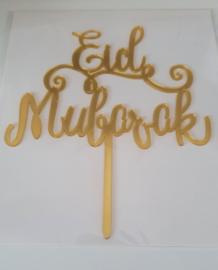 Cake topper Eid Mubarak acryl gold