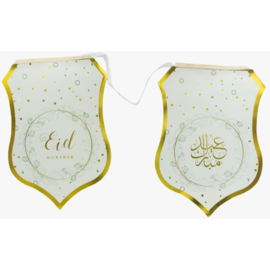 Eid bunting gold leaves