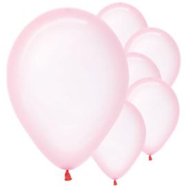 Ballonnen pastel roze clear (pst)