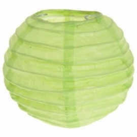 Mini lampion lime groen medium (2st)