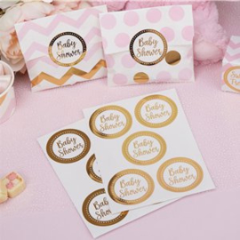 Sluitstickers baby shower goud (25st)