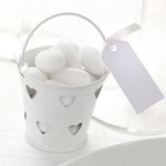 White mini pail (set of 5)
