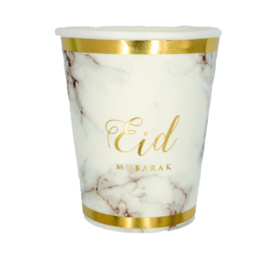 Eid cups marble gold (6pcs)