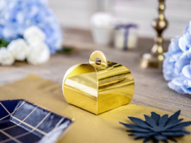 Favor box shiny gold (10pcs)