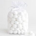 Organza pouch white