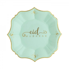 Dessert plates Eid mint green (8pcs)