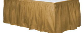 Plastic table skirt gold