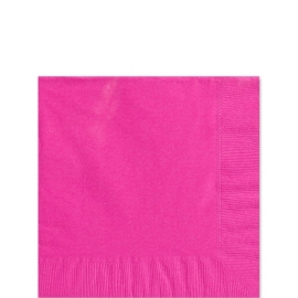 Paper napkins hot pink (20pcs)