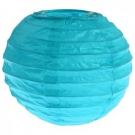 Mini lampion turqoise (2st)