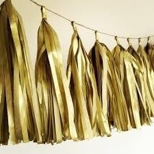 DIY tassel goud zijdepapier (5st)