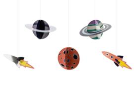 Deco hangers space planeten (5st)