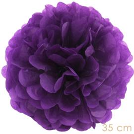 Pompom donker paars 35cm