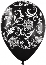 Balloon damask black (each)