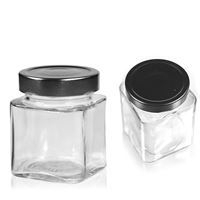 Glass jar small rectangle low (ea)