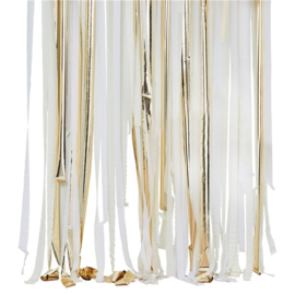 DIY backdrop linten wit goud