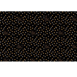 Gift wrapping paper Eid black polka