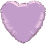 Foil balloon heart lilac