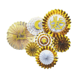 Eid fan set gold (8pcs)