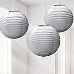 Paper lantern set silver (3pcs)