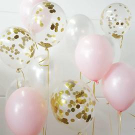 Confetti ballonnen gevuld met helium (pst)