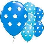 Balloons tropical blue polka dot (each)