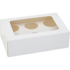 Cupcake doosje wit 6 vaks (pst)