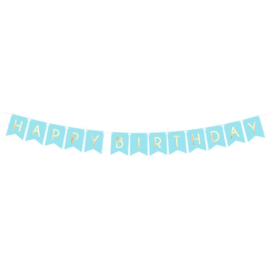 Banner happy birthday BLAUW