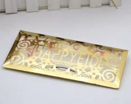 Money envelope Eid metallic gold (ea)