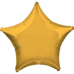 Foil balloon mini star gold 5""