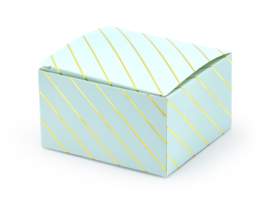 Gift box blue gold striped (10pcs)